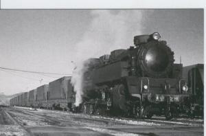 Postal 012342: Locomotora de vapor Andorra 2427 en Andorra (Teruel), febrero ...