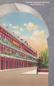 Louisiana New Orleans Pontalba Apartment Buildings Curteich