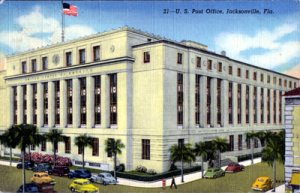 JACKSONVILLE, great view of the U.S. Post Office, 1940s
