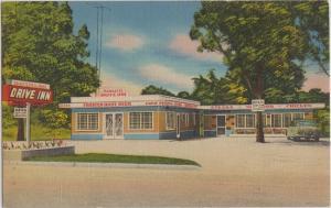COCOA - PARKETT DRIVE INN RESTAURANT 1950s view - HIRES Root Beer - NEON SIGN
