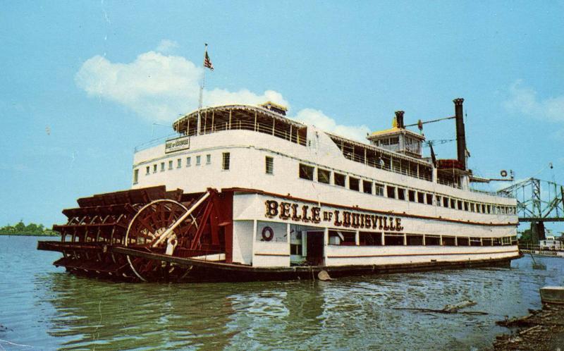 KY - Louisville. Steamboat Belle of Louisville on the Ohio River (Kentucky)