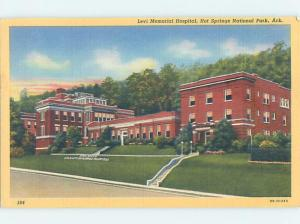 Linen HOSPITAL SCENE Hot Springs National Park Arkansas AR d5748