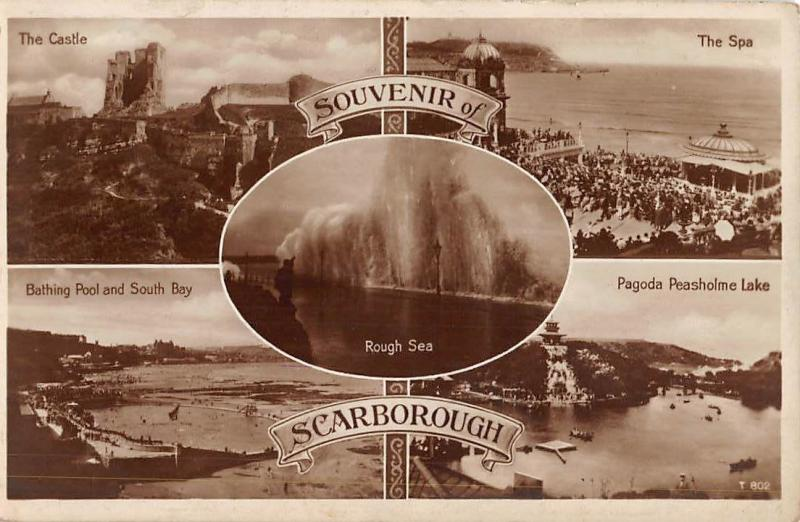 Souvenir of Scarborough, The Castle, Bathing Pool and South Bay, The Spa