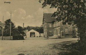 denmark, GRAM GRAMBY, Street Scene (1910s) Postcard