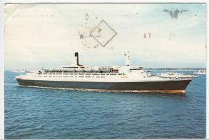 Liner SS Queen Elizabeth, Cunard Line PPC, 1978, To The Holloways, Thorpe Bay