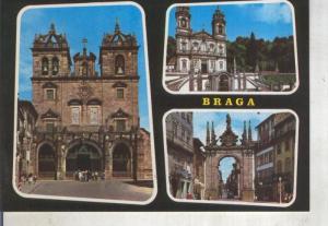 Postal 014153: Vistas varias de Braga, Portugal