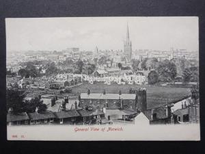 Norfolk NORWICH Panoramic General View c1907 Old Postcard by Hartmann 2620.12