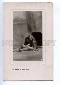 239964 NUDE Girl ELF Wood PHOTO Rita MARTIN Vintage TUCK PC