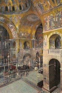 Giant Size Italy Postcard Venice, Church Interior of St. Marks Basilica OS226