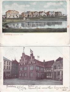 Lot 2 Rendsburg Germany 1904 postcards