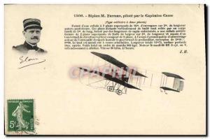 Old Postcard Jet Aviation Farman biplane pilot by Captain Brain