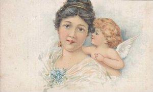 TC: Angel whispers in woman's ear, 1890s ; Fleischmann Co Yeast adv.