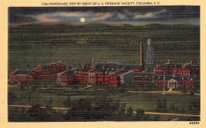 Columbia South Carolina~U.S Veterans Facility~Panoramic Night View~1940 Postcard