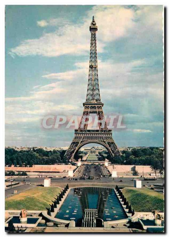 Modern Postcard Paris Eiffel Tower