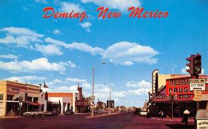 Deming NM~Go To Rexall~Bowman's Print~Luna Theatre, Art Deco Sign~Texaco 1950s