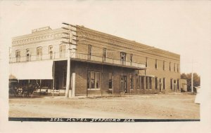 LP18 Stafford Kansas RPPC  Postcard Hotel
