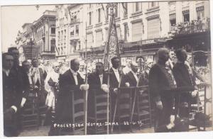 RP: Procession Notre-Dame , Antwerp , Belgium , 1919