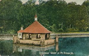 Steamboat Wharf at Mount Vernon VA, Virginia - pm 1914 - DB