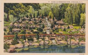 New York Syracuse Scene In Onondaga Park Curteich