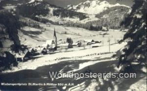 Norway, Norwegian, Norge, Norske Huttau Wintersportplatz St Martin b Huttau R...