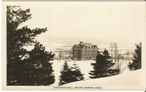 Overtoun Hall, Mount Hermon, Massachusetts RPPC Black and White Vintage Real