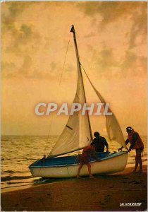 Modern Postcard The Joys of Sailing Boat Back to Crepuscule