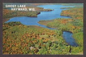 WI Aerial View Ghost Lake HAYWARD WISCONSIN Postcard PC