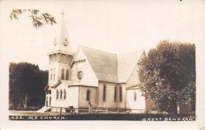 Great Bend Kansas~Methodist Espiscopal ME Church~Landscape View~c1908 RPPC