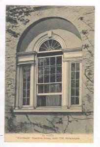 Exterior Window,  Woodlands  Hamilton House, Built 1736, Philadelphia, Pennsy...