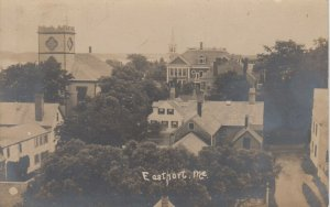 RP; EASTPORT , Maine , 1905 ; Rooftop View