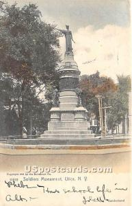 Soliders Monument Utica NY 1906