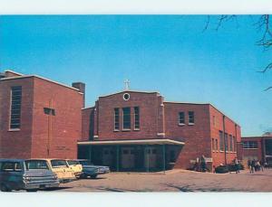 Unused Pre-1980 OLD CARS & CHURCH SCENE Dover Delaware DE p3256