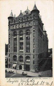 Prudential Building, Broad & Market Streets, Newark, N.J., 1904 Postcard, Used