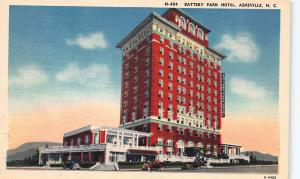 Battery Park Hotel, Asheville, North Carolina, Early Linen Postcard, Unused