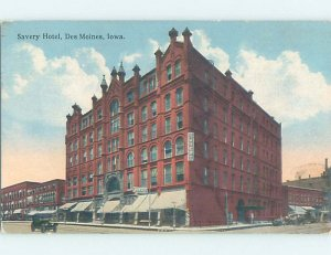 Divided-back HOTEL SCENE Des Moines Iowa IA AE2203