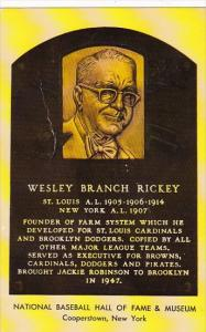 Wesley Branch Rickey National Baseball Hall Of Fame & Museum  Cooperstown New...