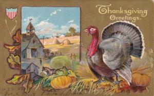 Thanksgiving Turkey & Farm Scene