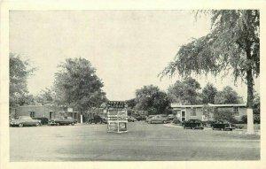 Autos Brook Run Lodge Entrance Richmond Virginia Graycraft Postcard 20-13536
