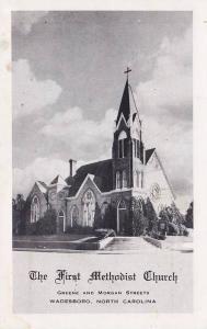 Exterior, The First Methodist Church, Greene and Morgan Streets,  Wadesboro, ...