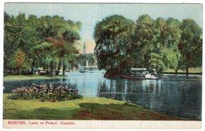 Boston, Lake In Public Garden