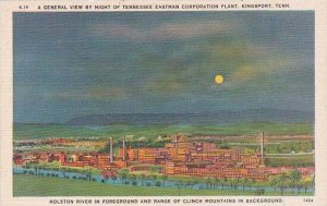 Tennessee KingPort A General View By night Of Tennessee Eastman Corporation P...
