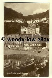 tp8185 - Devon - View Uphill of Clovelly, taken from the Harbour - Postcard