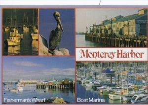 California Monterey Harbor Showing Fisherman's Wharf & Boat Marina