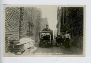 Hoquiam WA Unusual Lumber Carrier Handling Truck RPPC Real Photo Postcard