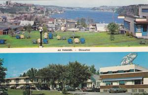 Two Views, Hotel-Motel Au Parasol View of Water, Chicoutimi, Quebec, Canada, ...