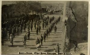 iraq, KIRKUK كركوك‎‎ , Band & Drums 4th Battalion Royal Fusiliers (1919) RPPC