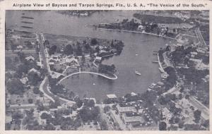 FLORIDA, PU-1929; Airplane View of Bayous & Tarpon Springs, Venice of the South