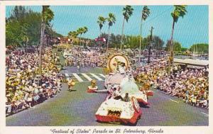 Florida Saint Petersburg Festival Of States Parade