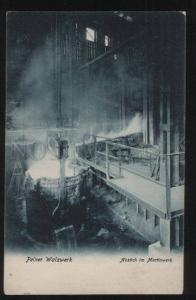 102224 GERMANY Peiner Walzwerk Abstich im Martinwerk Vintage
