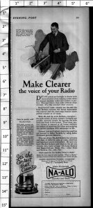 1924 Na-Ald Sockets and Dials for Radio Vintage Print Ad 4005